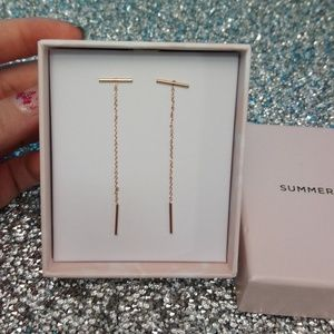Rose Gold Bar Earrings